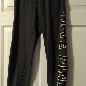 VS Pink grey sweat pants size small